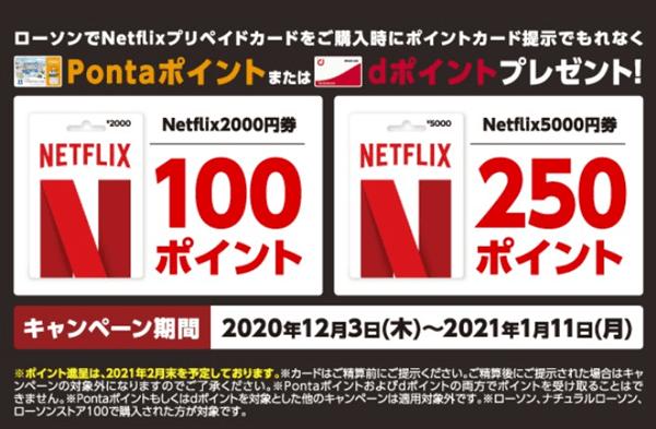Netflix支払い方法お得なキャンペーンローソン