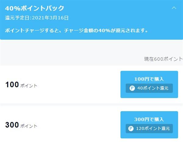 U-NEXT料金ポイント購入