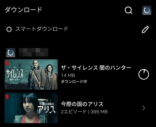 Netflixダウンロード一覧