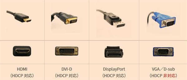 Hulu見れない時PCHDCP対応ケーブル